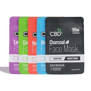 【定期お得便】CBDfx フェイスマスク 5枚セット(5種類から各1枚)