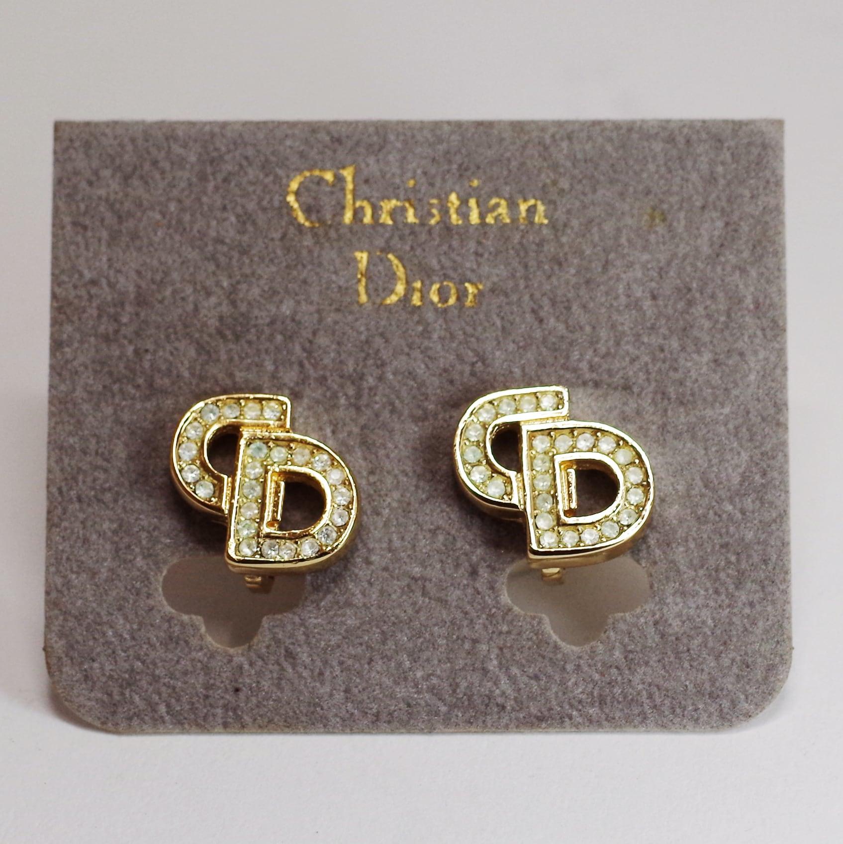 Christian Dior ディオール CDイヤリング ゴールド アクセサリー