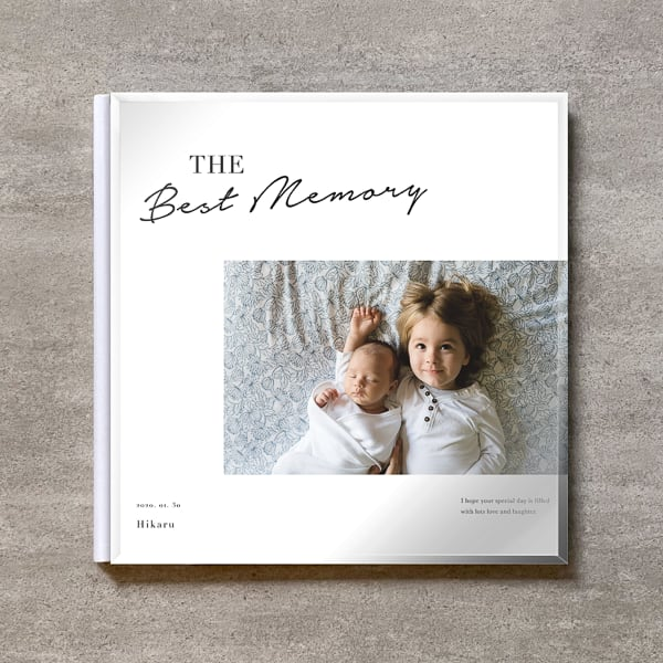 Simple white-BABY_A4スクエア_6ページ/6カット_クラシックアルバム(アクリルカバー)