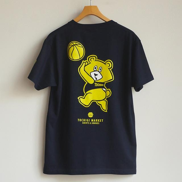 Tシャツ バスケくま ネイビー