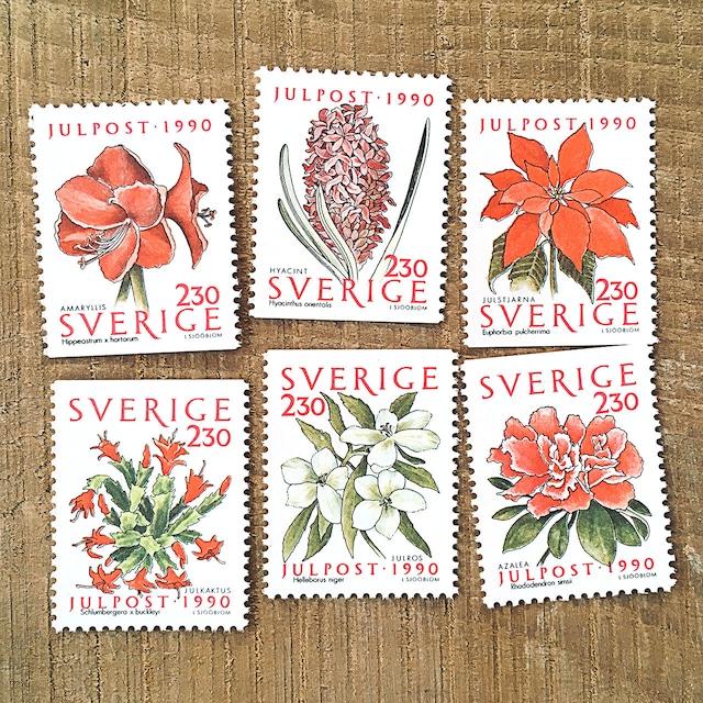 切手(未使用)「1990年版 クリスマス切手 - 6種セット(1990)」