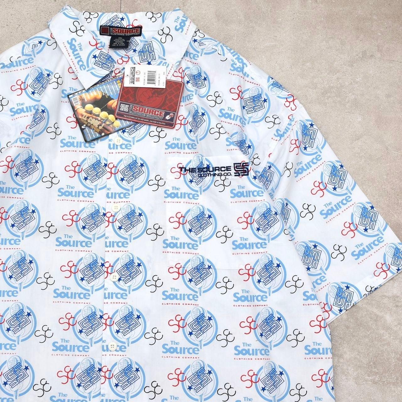 Dead Stock 90〜00's THE SOURCE logo print shirt