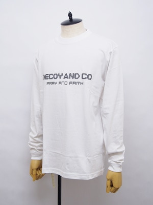 DECOY & CO. (デコイアンドシーオー) PRAY AND FAITH L/S TEE / WHITE D63809-01