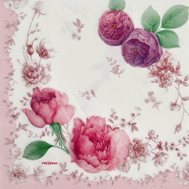 【FRONTIA】バラ売り1枚 ランチサイズ ペーパーナプキン パープルローズ パープル
