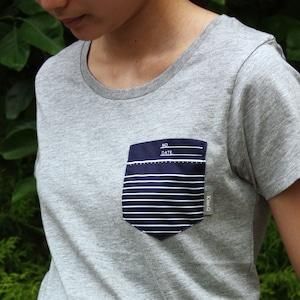 ノートの端っこTシャツ インクブルー