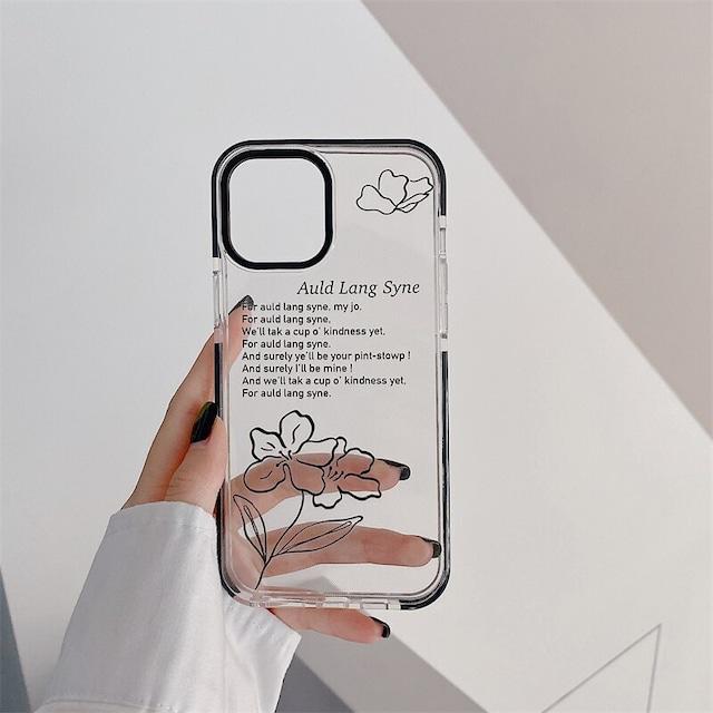 Retro black painting iphone case