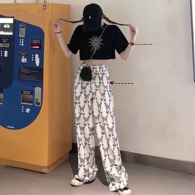 【セットアップ】【単品注文】ストリート系Tシャツ+総柄カジュアルパンツ42897760