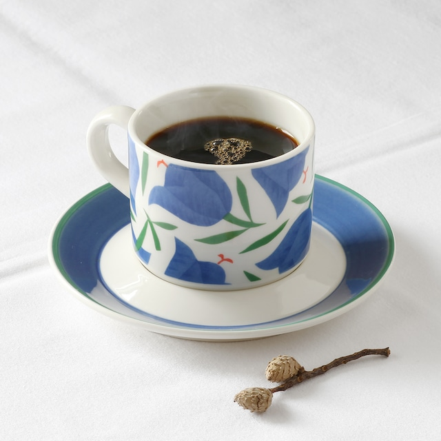 ARABIA アラビア Balladi バラディ コーヒーカップ&ソーサー - 2  北欧ヴィンテージ ★わけあり★