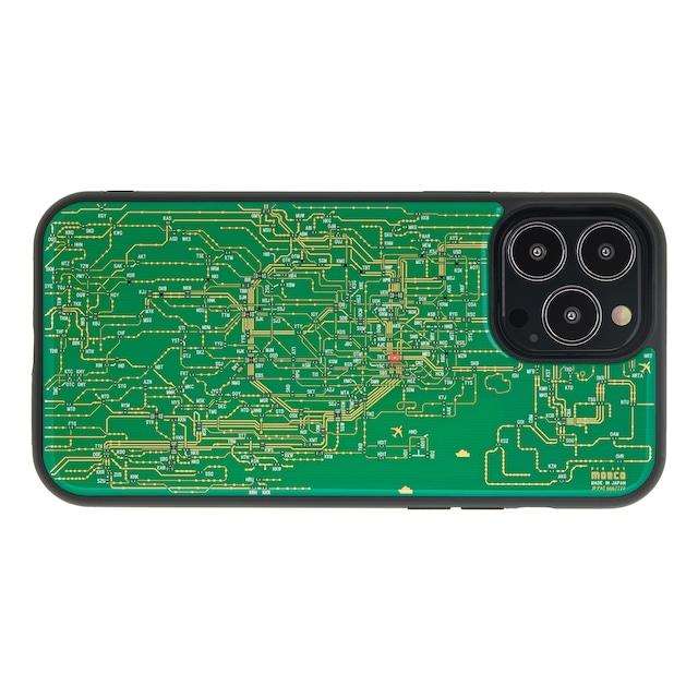 FLASH 東京回路線図 iPhone 13 Pro Maxケース 緑【東京回路線図A5クリアファイルをプレゼント】