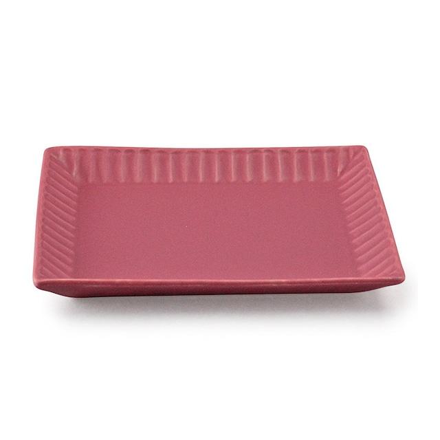 aito製作所 「ライン」 トーストプレート 皿 約20×16cm ベリー 美濃焼 287170