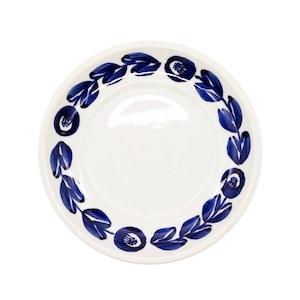 萬古焼 藍窯 スモールプレート 小皿 取り皿 直径約15cm 「カメリア」 藍 AGM-200089