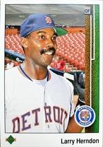 MLBカード 89UPPERDECK Larry Herndon #049 TIGERS