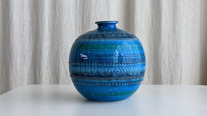 Rimini Blue Sphere Vase by Aldo Londi for FLAVIA  MONTELUPO Italy