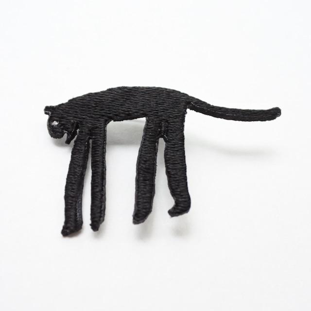 長沢明 刺繍ブローチ トラ(黒)