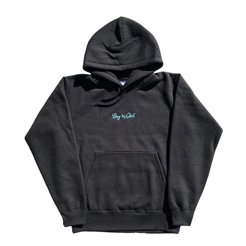 Boy≒Girl  Logo Hoodie(Emerald)