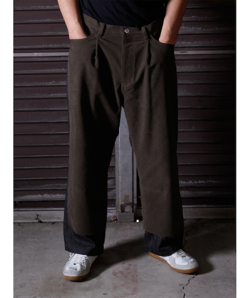 Tuck Layered Pants -khaki <LSD-BJ3P3>