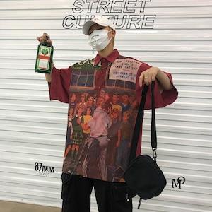 【トップス】図柄プリントストリート系流行りオーバーサイズシャツ30951204