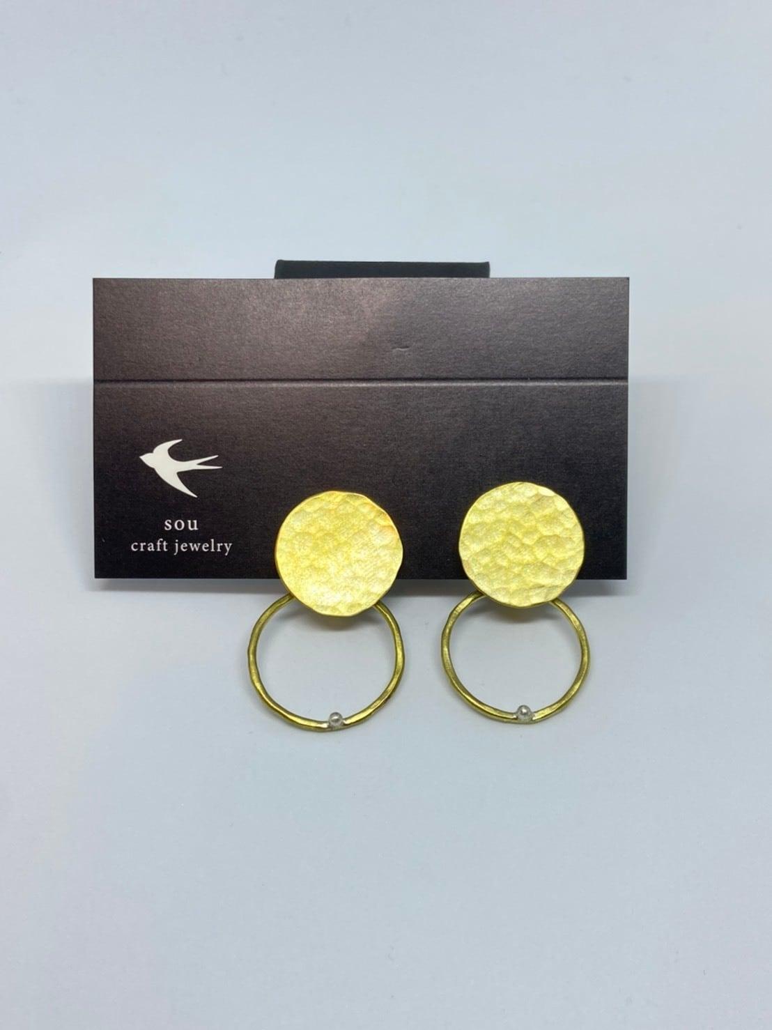 【atelier sou】2way真鍮プレートイヤリング