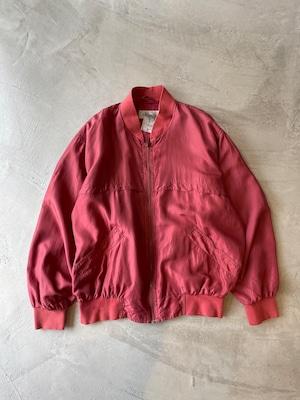 vintage silk blouson -rose-