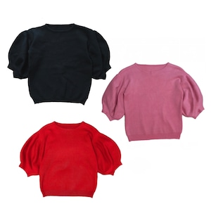 【black:即納】#NO.3 PUFF SLEEVE KNIT -3color-