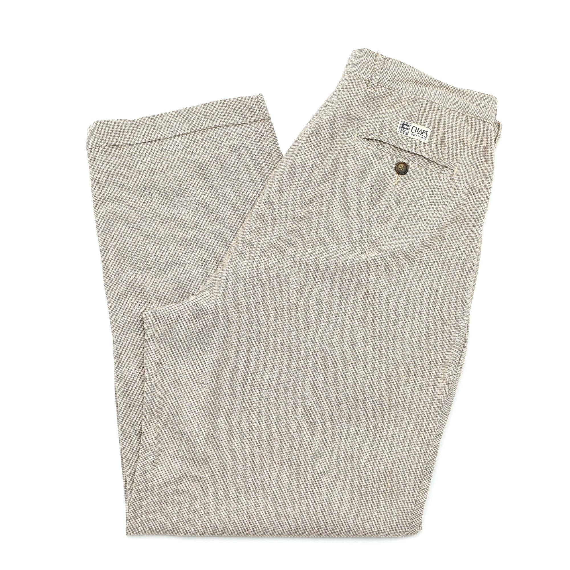 90's CHAPS Ralph Lauren check pants