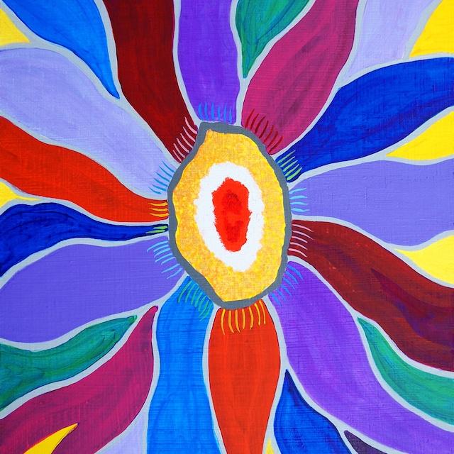 絵画 インテリア アートパネル 雑貨 壁掛け 置物 おしゃれ 現代アート ロココロ 画家 : 眞野丘秋 作品 : Flower #32