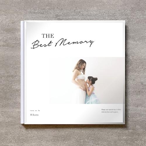 Simple white-MATERNITY_A4スクエア_6ページ/10カット_クラシックアルバム(アクリルカバー)