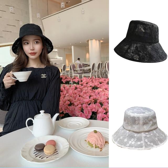 ❤︎ lace bucket hat 2color