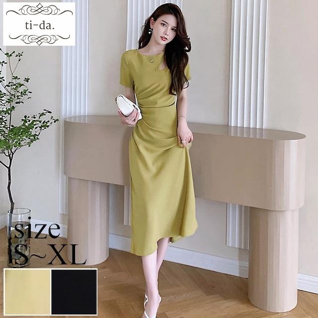 No.1183 韓国ワンピース きれいめワンピース 大人可愛いワンピース フレアワンピース 2color