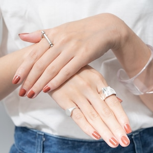 RING || 【予約商品】ORIGAMI RING SIZE L || 1 RING || SILVER || FDF133