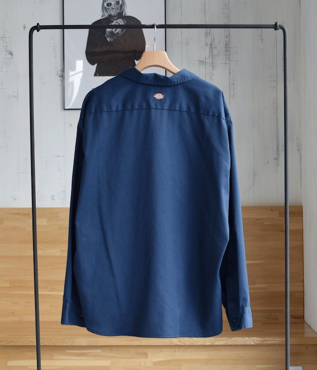 USED REMAKE DICKIES OPEN COLLAR SHIRT