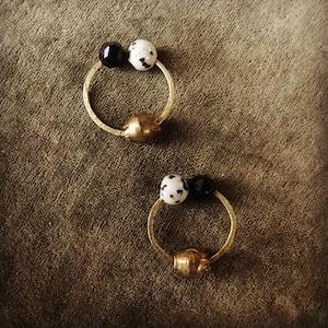 Owly.original earrings (ラウンド)