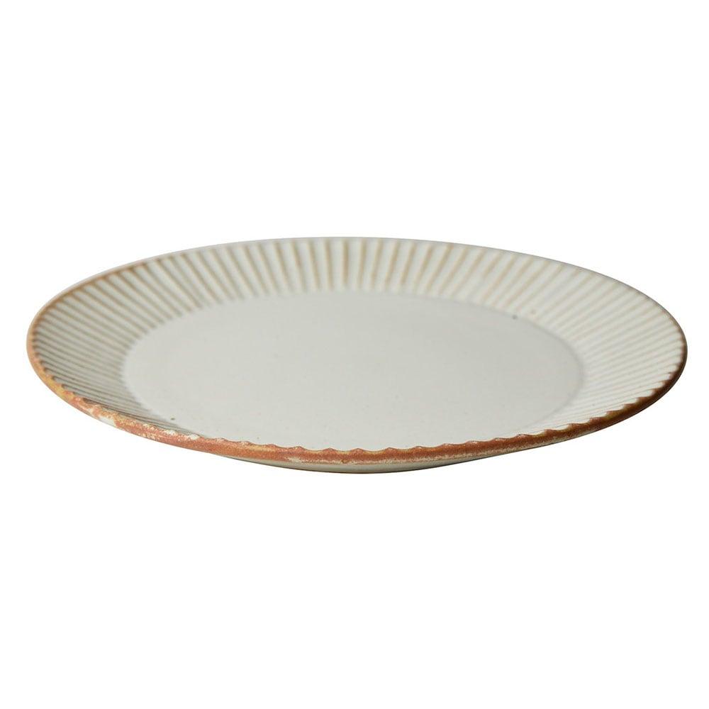 益子焼 つかもと窯 「 SHINOGI 」 プレート 皿 L 約22cm ホワイト TS-02