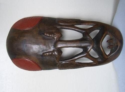 アフリカ 木彫仮面 アフリカンアート プリミティブアート