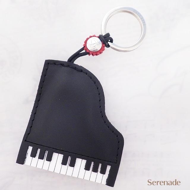 イタリア製 ピアノ レザーキーホルダー 本革 DALLAITI