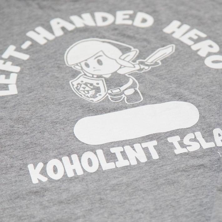 ゼルダの伝説 夢をみる島/LEFT HANDED HERO2/LONG SLEEVE-T-SHIRT (2色) / THE KING OF GAMES