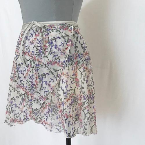 "❖""Fiorina"" Ballet Wrap Skirt -  Avril・WHITE [Sheer]( アブリル・白 [シアー])"
