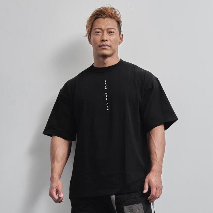 vertical  logo  big  T-shirt (BLACK)