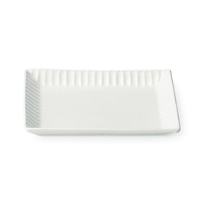 aito製作所 「ライン」 トーストプレート 皿 約20×16cm ホワイト 美濃焼 287172
