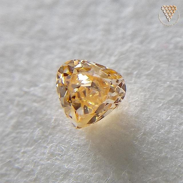 0.129 ct Fancy Intense Yellow Orange SI1 CGL 天然 イエロー オレンジ ダイヤモンド ルース
