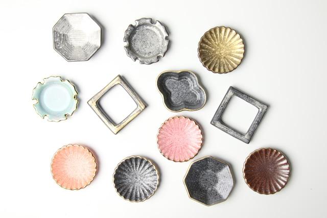 釉彩豆皿箸置 有田焼
