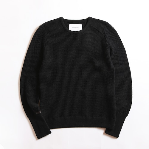 THE INOUE BROTHERS/High Gauge/Waffle Crew Neck/Black