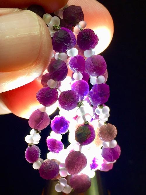 7) 紫ゴビアゲート「卑弥呼」ミニビーズ・ネックレス