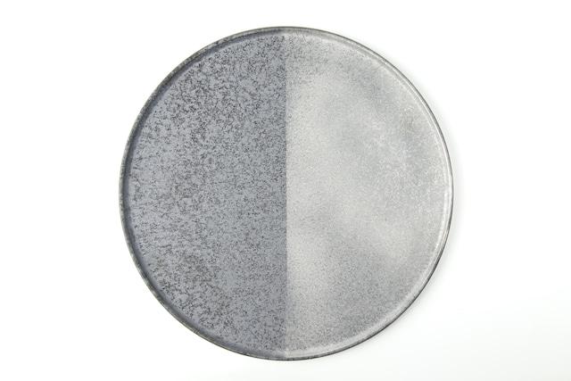 半銀塗27cmプレート 有田焼