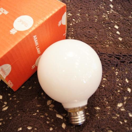 E26 60W ボール球 ホワイト (白熱電球)
