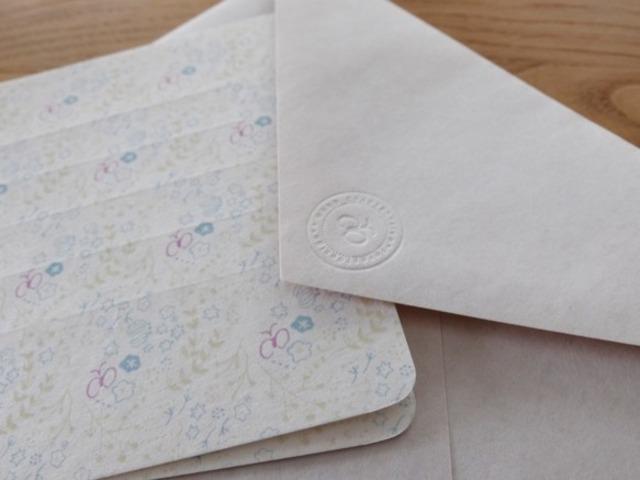 【活版印刷】Message Letter  [ lien/ピンク×グリーン系]