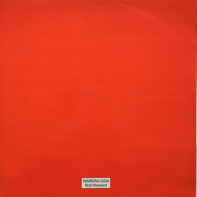 【12inch・英盤】Nick Heyward / Warning Sign