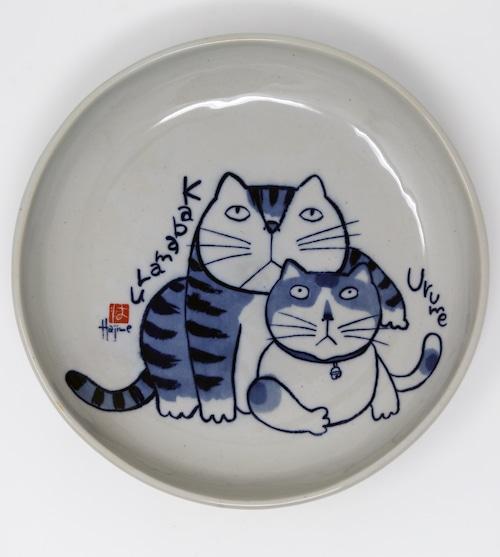 猫皿(やんちゃ猫大皿)かばまるうるめ