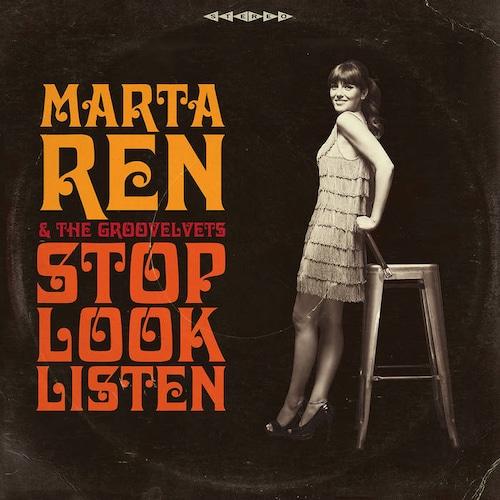 【ラスト1/LP】Marta Ren & The Groovelvets  - Stop Look Listen -LP Repress (Clear Vinyl LP)