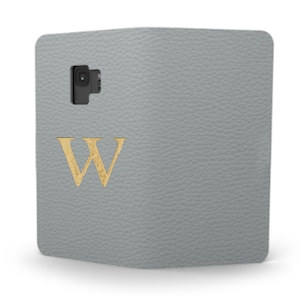 Galaxy Premium Shrink Leather Case (Ice Grey)  : Book cover Type